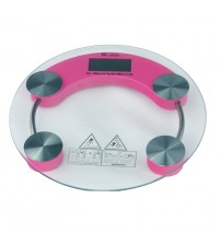 Digital LCD Round Design Safety Glass Body Weight Scale