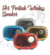 A4 Portable Bluetooth Wireless Speaker With Great Sound