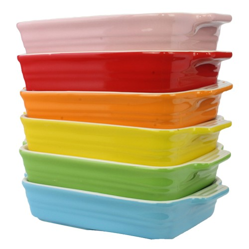 Colorful Microwave Safe Grilled Plate (Assorted Colour)