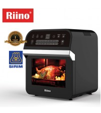 Riino Multi-Purpose Digital 16 Preset Menus Air Fryer And 360° Rotisserie Oven