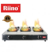 Riino Stainless Steel 3 Burner Gas Stove with Copper Burner - ST310