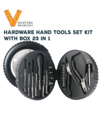 23 in 1 Hardware Hand Tool Set Kit With Box (Pliers, Screwdrivers)