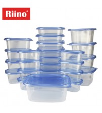 Riino 50pcs Transparent Food Storage Stackable Container Set