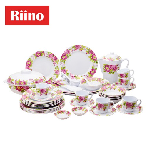 Riino Blossom Flower Melamine Tableware Set (45 pcs)