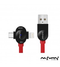 NAFUMI  M3 Dual-Use 2 IN 1 Fast charging USB Cable (2.4A Output)