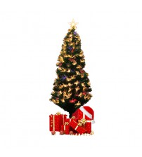 Artificial Christmas Tree With Fibre Optic LED Multi-color Lights (120cm)