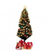 Artificial Christmas Tree With Fibre Optic LED Multi-color Lights (180cm)