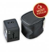 2.1A Universal Travel Adaptor with 2 USB Ports (T-UA-USB2)