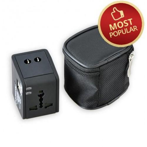 2.1A Universal Travel Adaptor with 2 USB Ports (T-UA-USB2)