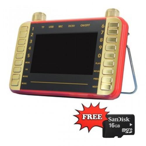 "4.3"" MP4 Kids Learning Player FM Radio Free 16GB Sandisk SD Card"