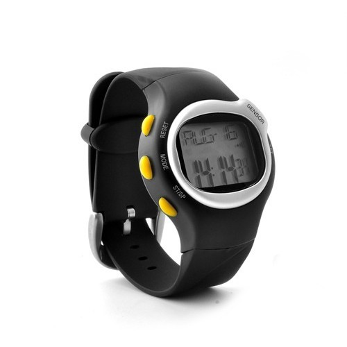 Simple Heart Rate and Calorie Monitor Watch in Black