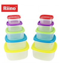 Riino 20 pcs Transparent Stackable Food Storage Container Set