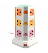 Vertical Secure Socket Tower Power Sockets with USB Port