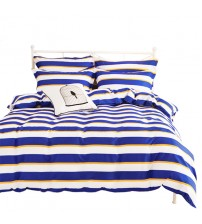 100% Cotton On Queen Size Multi Design 4 in 1 Bed sheet Set