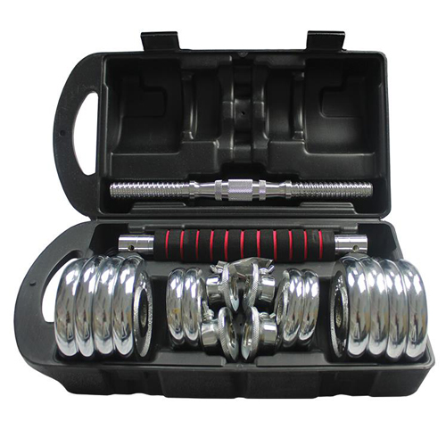 York 15KG Dumbbell Iron Chrome Set Adjustable Dumbbells With Box