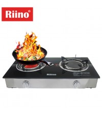 Riino Modern Infrared Tempered Glass Top with Gas Stove