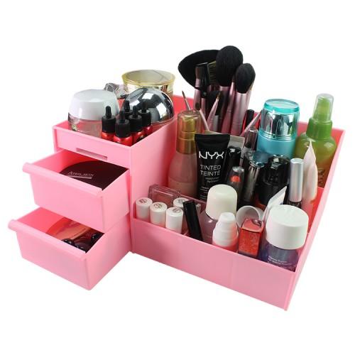 Multifunctional Korean Style Jewelry Cosmetics Make Up Storage Box