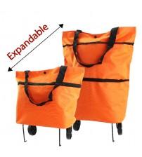2 Wheels Multifunctional Eco-Friendly Trolley Bag (Orange)