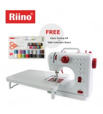 Riino Sewing Machine Dual Speed 12 Stitch Patterns with 42pcs Kits