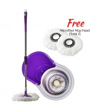 Daisu Magic Stainless Steel 360° Easy Spin Mop Microfiber Spin Mop
