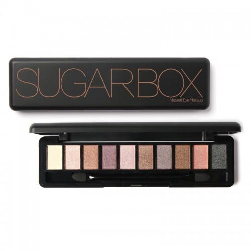 SUGAR BOX Natural Ten Color Eye Shadow Makeup Shimmer Matte Palette Set