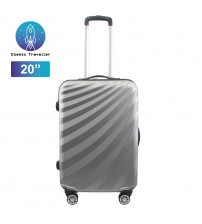 "Cosmic Traveller 20"" ABS Hard Case Streamer Diagonal Stripe Travel Luggage"