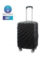 "Cosmic Traveller 20"" ABS Hard Case Streamer Diagonal Stripe Travel Luggage"