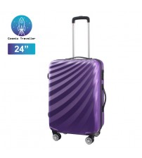 "Cosmic Traveller 24"" ABS Hard case Streamer Diagonal Stripe Travel Luggage"