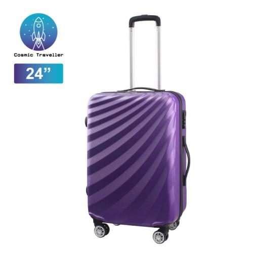 "Cosmic Traveller 24"" ABS Hard case Streamer Diagonal Stripe Travel Luggage"