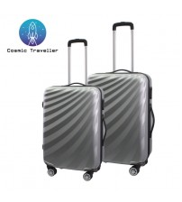 Cosmic Traveller 2in1 ABS Streamer Diagonal Stripe 2in1 Travel Luggage Set