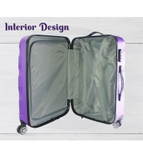 Cosmic Traveller 3 in 1 Travel Luggage ABS Hard Case Shell Curve Shape Luggage Set