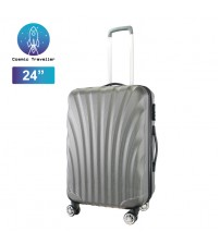 Cosmic Traveller 24'' Travel Luggage ABS Hard Case Shell Curve Shape Luggage Bag