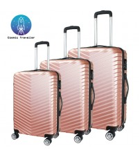 Cosmic Traveller Armour 3in1 ABS Hard Case Travel Luggage Bag Set